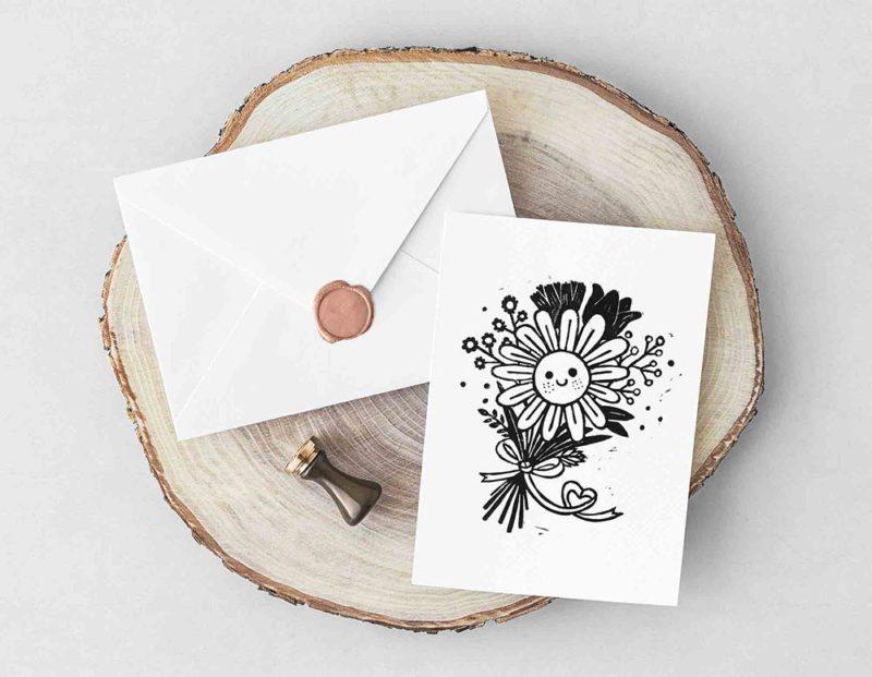 carte de voeux je t'aime mon amour demande mariage fiançailles fêtes des mères grand-mères remerciements anniversaire