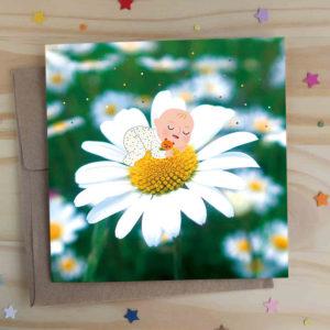 carte de vœux faire-part annonce naissance bienvenue bébé félicitations